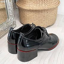 Черные туфли на невысоком каблуке, фото 2