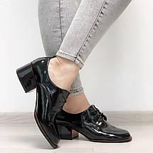 Черные туфли на невысоком каблуке, фото 3