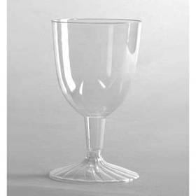 Бокал одноразовый стеклоподобный для вина на ножке 148 мл 2 предмета 20 шт/уп Pro Master арт.42252