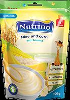 "Каша молочная с рисом, кукурузой и бананом 200г ТМ ""NUTRINO"" с 6 месяцев."
