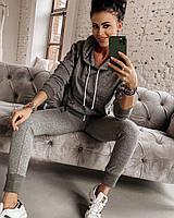 Костюм женский стильныйкофтас капюшоном ибрюки в стиле спорт шик Dol2762
