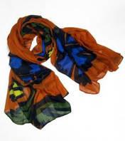 Текстурный шарф с цветком