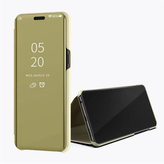 Чехол Mirror для Samsung A10 2019 / M10 2019 книжка Зеркальная Золотой