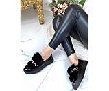 Туфли автоледи лакированные с украшением, фото 5