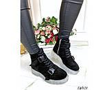 Ботинки на шнурках, тракторная подошва, фото 4