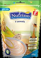 """Каша молочная из 7 злаков  200г ТМ """"NUTRINO"""" с 6 месяцев."""