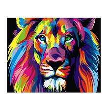 Картина ( раскраска) по номерам Радужный лев