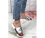 Шлепанцы кожаные на липучке, фото 5