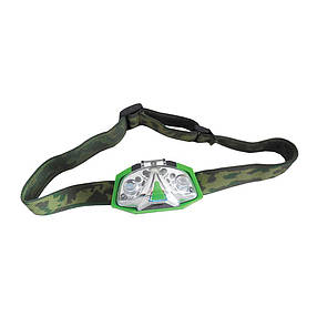 Налобный фонарь (зеленый свет) LUMII GREEN LED HEAD TORCH, фото 2