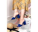Сабо замшевые Nina_Mi на каблуке, фото 4