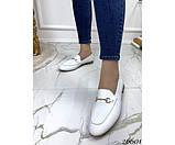 Туфли лоферы белый питон, фото 6