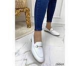 Туфли лоферы белый питон, фото 5