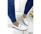 Туфли лоферы белый питон, фото 4