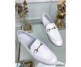 Туфли лоферы белый питон, фото 3