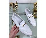 Туфли лоферы белый питон, фото 2