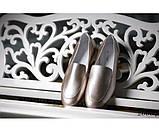 Туфли лоферы кожаные на низком ходу, фото 2