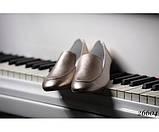 Туфли лоферы кожаные на низком ходу, фото 3