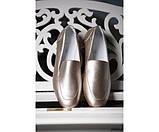 Туфли лоферы кожаные на низком ходу, фото 4