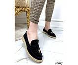 Туфли лоферы с украшением, фото 4