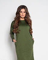 Платья BeautyArt 10508 S хаки