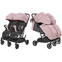 Коляска прогулочная CARRELLO Presto Duo CRL-5506 Cherry Pink +дождевик