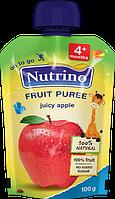 """Фруктове пюре з яблук 100 г у м'якій упаковці ТМ """"NUTRINO"""" з 4 місяців."""