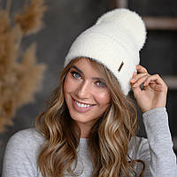 """В'язана шапка """"Миринда"""" колір білий"""