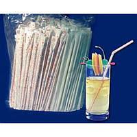 Соломка для фреша в индивидуальной бумажной упаковке прозрачная 210 мм,200 шт/уп Pro Master арт.74082