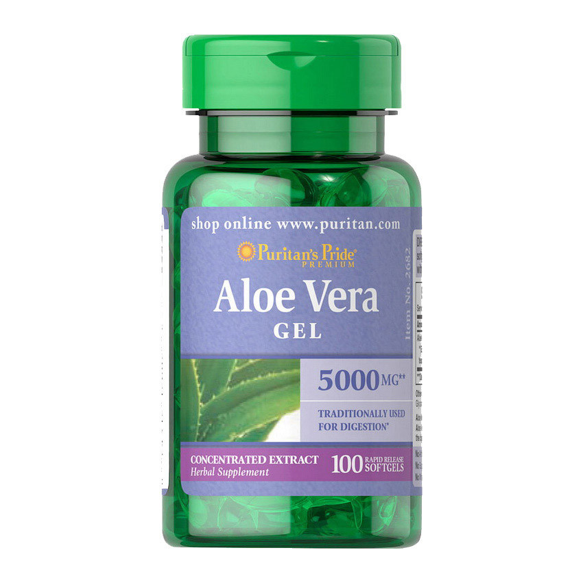 Алое віра Puritan's Pride Aloe Vera Gel 5000 mg 100 softgels