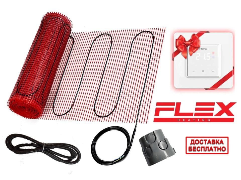 Тонкий мат для обогрева FLEX EHM -175 -14м-7 м2 -1225 Вт комплект с сенсорным Terneo S  Премиум (Р) КІТ 6212