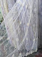 Тюль с вышивкой на фатине, фото 1