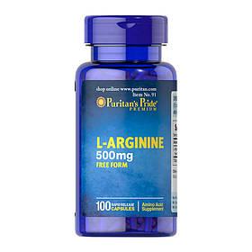 Аргінін Puritan's Pride L-Arginine 500 mg 100 caps