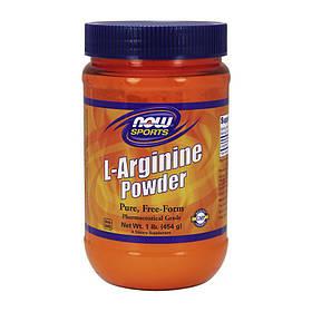 Аргінін в порошку NOW L-Arginine Powder 454 g unflavored