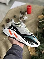 Адидас Изи Буст 700 Мужские кроссовки разноцветные для бега Adidas Yeezy Boost 700. Кроссы беговые