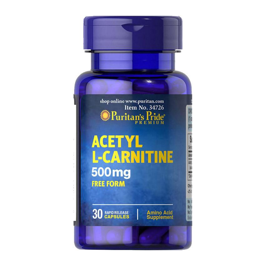 Ацетил Л-карнитин Puritan's Pride Acetyl L-Carnitine 500 mg 30 caps