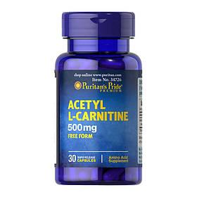 Ацетил l-карнітин Puritan's Pride Acetyl L-Carnitine 500 mg 30 caps