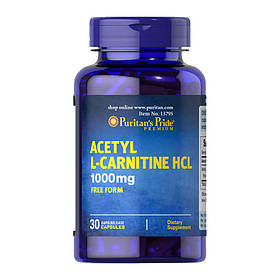 Ацетил l-карнітин Puritan's Pride Acetyl L-Carnitine 1000 mg 30 caps