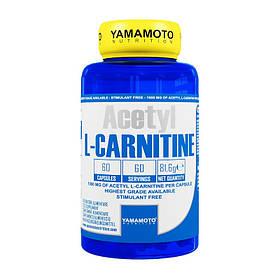 Ацетил l-карнітин Yamamoto nutrition Acetyl L-Carnitine caps 60