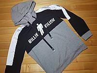 Худи, толстовка, свитшот EILISH 122- 152 серый