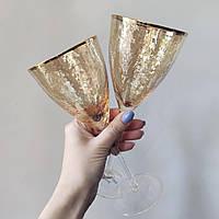 Набор бокалов DS Gold-Hammerd для красного вина 375 мл 4 шт Золотой, фото 1