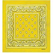 Бандана ковбойская желтая 020316-218