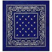 Бандана ковбойская синяя 020316-195