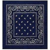 Бандана ковбойская темно-синяя 020316-198