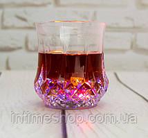 Светящийся стакан для вечеринки Color Cup, бокал для шампанского, виски, коктейлей, смузи (пластиковый) (TI)