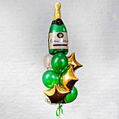 Букет шаров Шампанское (зеленое) 10 шт. ГЕЛИЙ 270319-201