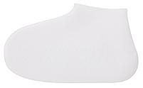 Силіконові водонепроникні чохли-бахіли для взуття від дощу і бруду розмір S колір білий, фото 2