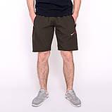 Чоловічі спортивні шорти Nike, кольору хакі (плащівка)., фото 3