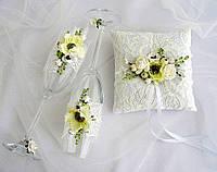 Свадебный набор бокалы и подушечка для колец
