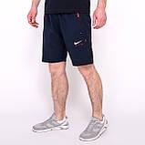 Чоловічі спортивні шорти Nike, синього кольору (плащівка, принт камуфляж)., фото 3