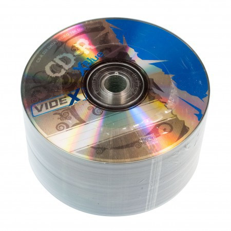 Диск CD-R Videx X-Blue, 700Mb, 52x, 50 шт